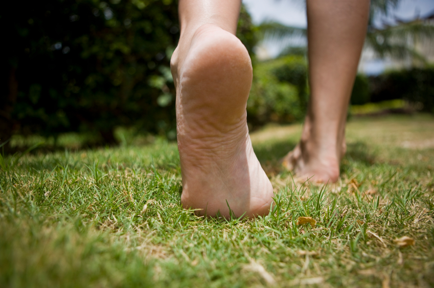 Barefeet on grass