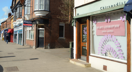 High Street in Ware showing our surgery front